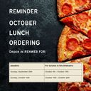October Lunch Orders
