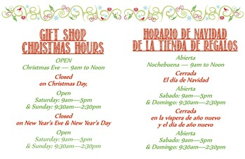 2020 Christmas and New Year shop Hours