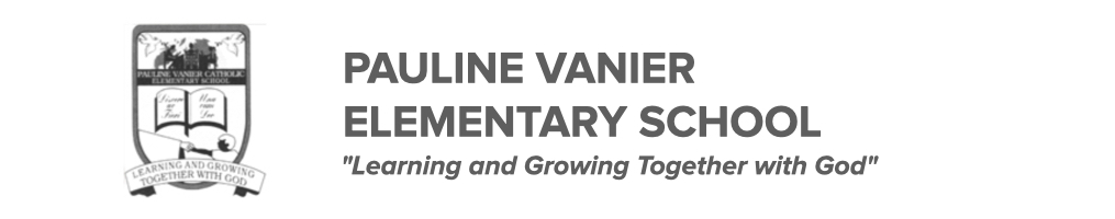 Pauline Vanier Catholic Elementary School logo. Click here to be taken to their website.