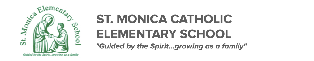 St. Monica Elementary School logo. Click here to be taken to their website.