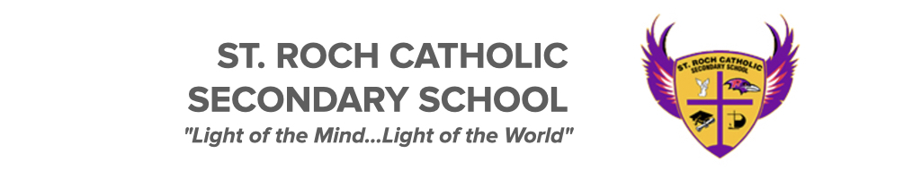 St. Roch Catholic Secondary School logo. Click here to be taken to their website.