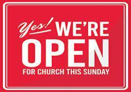 CHURCH OPEN THIS WEEKEND