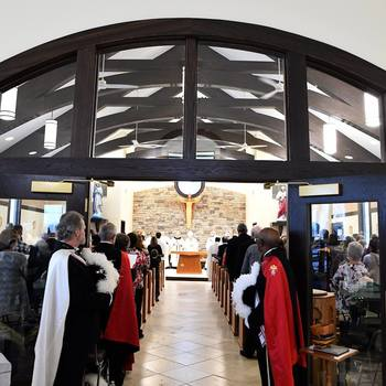 Bishop Bradley consecrates new St. Clare Church building