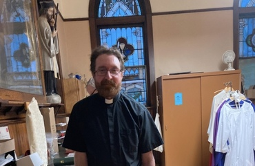 When it's Ash Wednesday, & Fr. Ben is on the altar again!