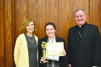 St. Pius X's Riannon Heinl wins 57th annual spelling bee