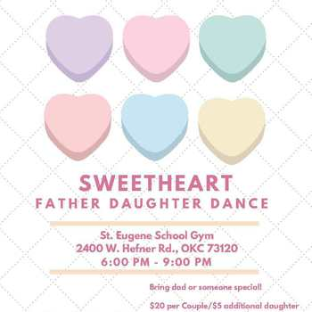 Sign Up for the Sweetheart Father Daughter Dance on Feb. 23rd