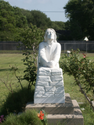 Christ Praying Statue, Resurrection Cemetery, Victoria, Texas