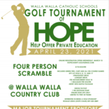 Online Registration for Golf Tournament of HOPE is open!