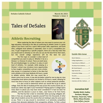 Tales of DeSales (March 2021)