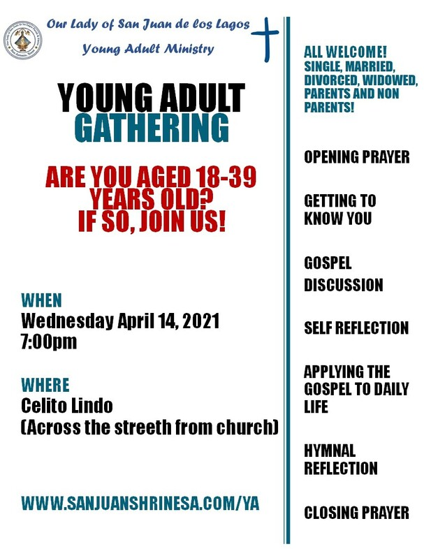 CALLING ALL YOUTH AND YOUNG ADULT