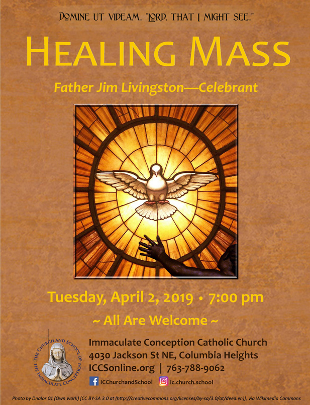 Healing Mass with Fr  Jim Livingston   The Church and School