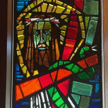New Glass Artwork installed in Narthex