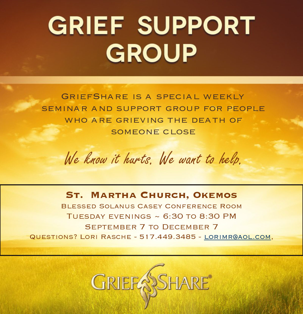 Grief Support Group Flyer