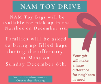 NAM Toy Bag Drive and Mass Offering