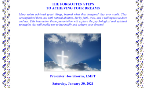 Saturday, Jan. 30 Forgotten Steps to Achieve Your Dreams