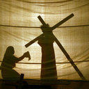 Silhouette Station of the Cross
