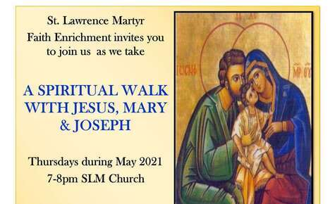 A spiritual walk with Jesus, Mary and Joseph