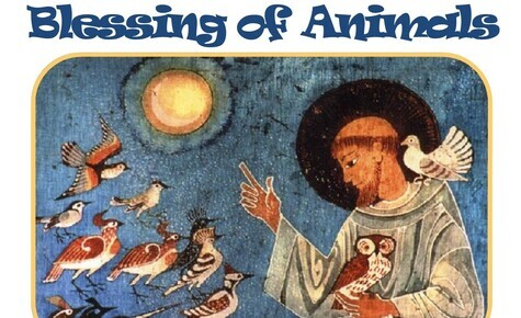 Blessing of Animals October 9th at 10am