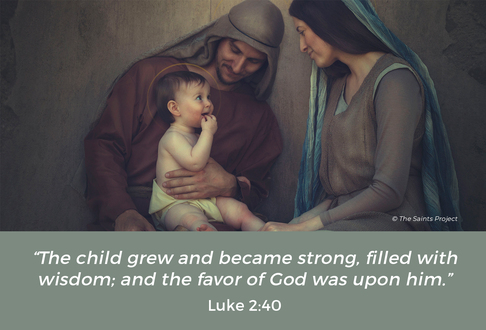 Image: Holy Family Text: