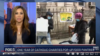 Fox 5 News: One Year of Catholic Charities pop-up food pantries
