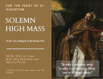 Solemn Mass for the Feast of St. Augustine