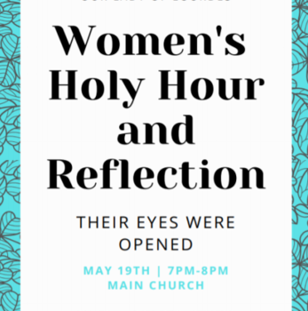 Women's Holy Hour and Reflection