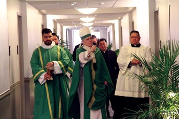 New dorms at St. Mary's Seminary blessed on Sept. 12