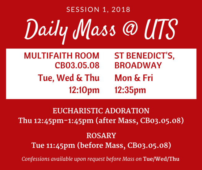 Mass on campus university of technology catholic chaplaincy todays readings thecheapjerseys Images