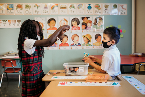 We chose Pacelli because we were new to town and didn't have any other childcare options. We stayed with Pacelli because the childcare was exceptional and we loved the Christian values that were being reinforced with our children. We are still with Pacelli because of the outstanding education, the teacher attentiveness, and the sense of family; we are so proud to be part of this amazing community.-Jeremiah & Sarah Johnson