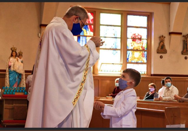 First Communion During the Pandemic Sacred Heart Church East Boston, MA