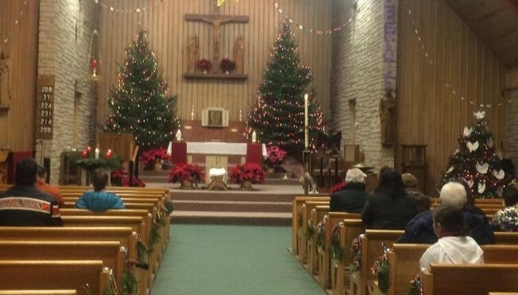 St. Anthony congregation at Christmas time, 2018