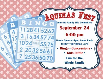 BINGO is Friday at 6 PM
