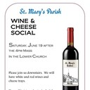 St. Mary's Wine and Cheese Social