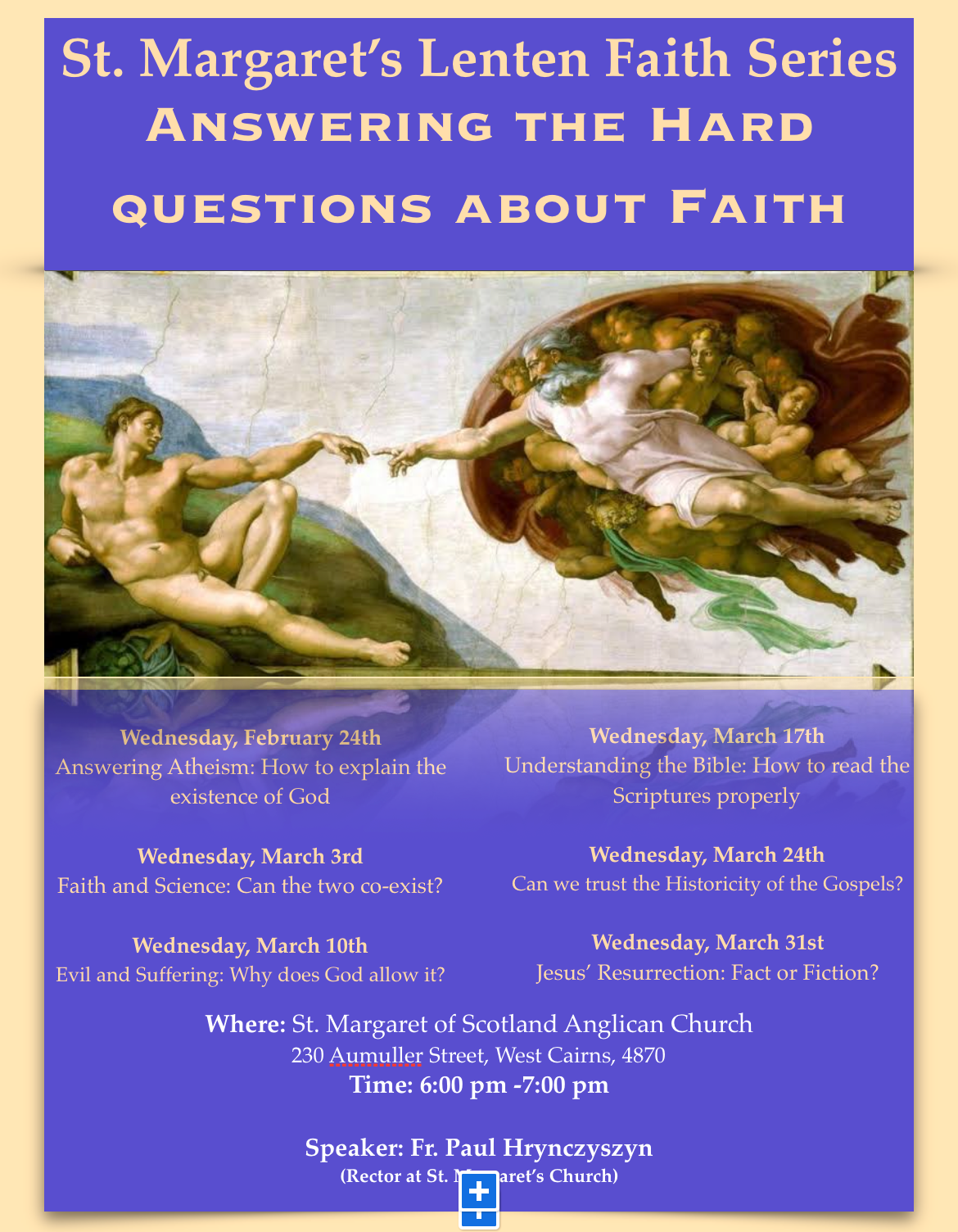 Come and Join us for our Lenten Lecture Series