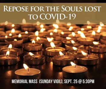 Repose for the Souls Lost to COVID (Memorial Mass)