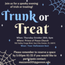 Trunk or Treat to Take Place October 28th