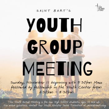 High School Youth Group Meeting
