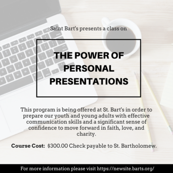 Personal Presentation Class