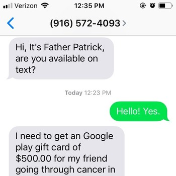 Phishing Scam Now Utilizing Texts