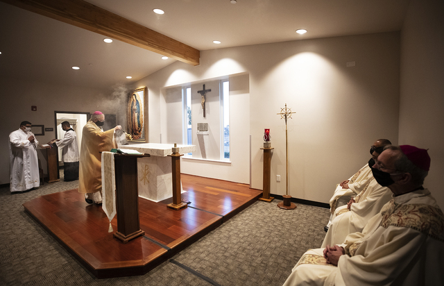 Blessing of Altar and Chapel at Queen of Angels Center for Priestly Formation 2021