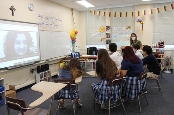 AP Spanish Students Participate in Global Connect Day