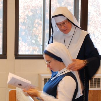 Welcoming a New Postulant