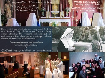 """Come and See"" Discernment Retreat"