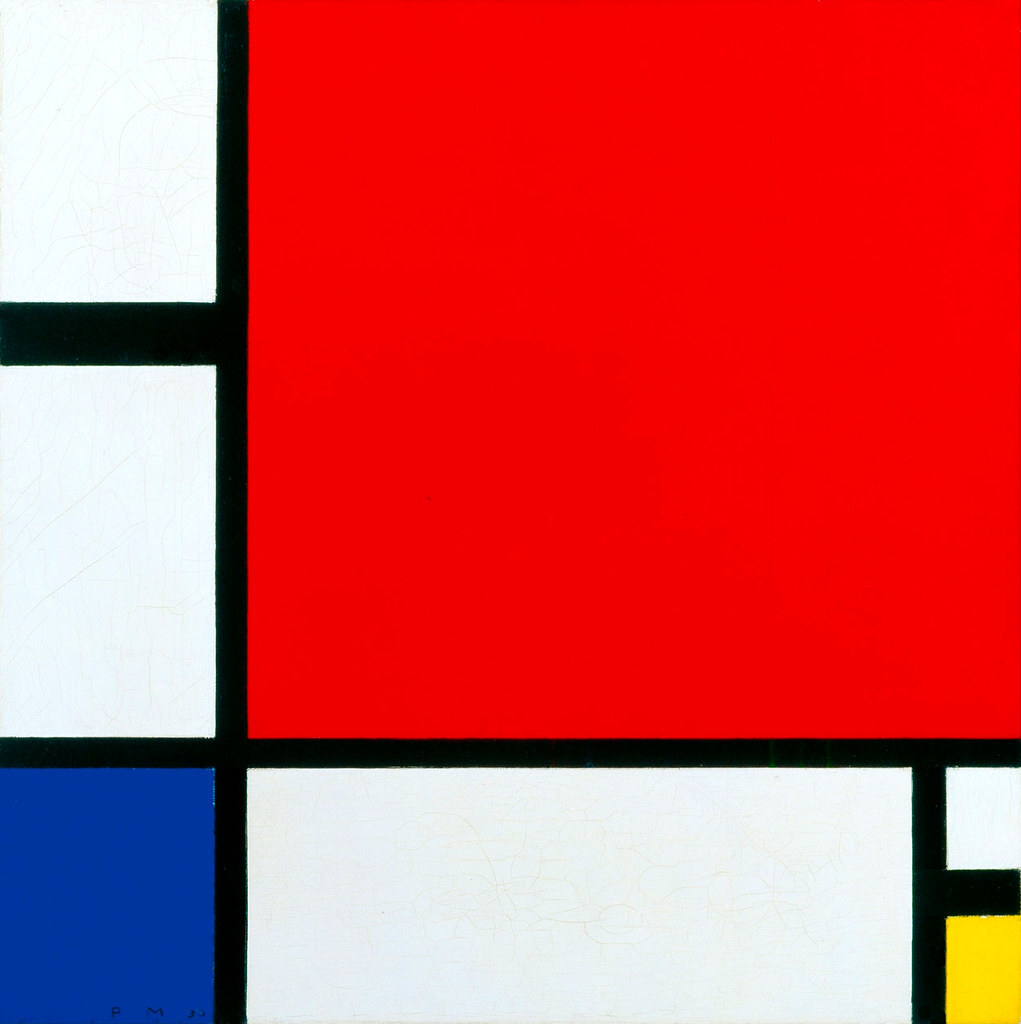 Piet Mondrian, Composition with Red, Blue and Yellow 1930. Oil on canvas. 45 x 45 cm.