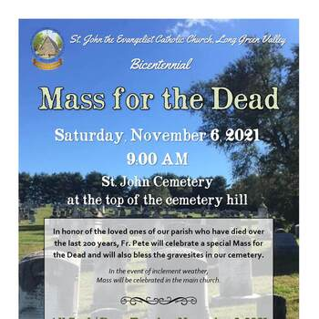 All Souls Novena and Masses for the Dead