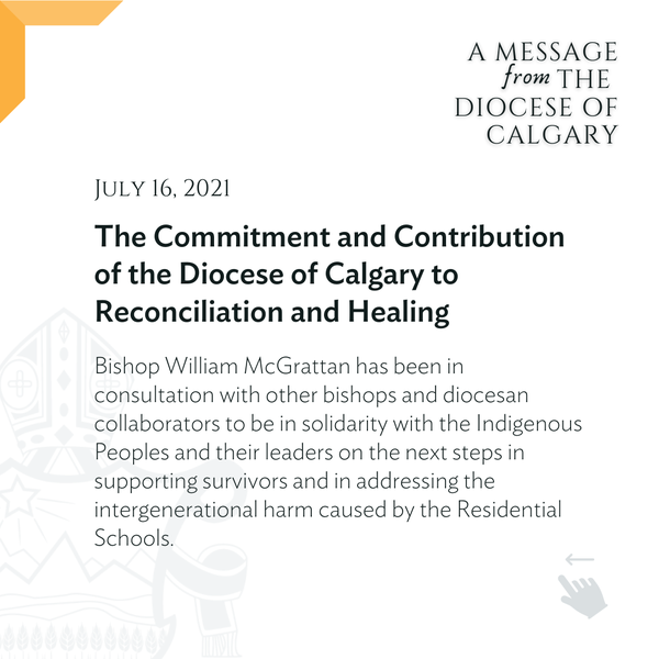 The Commitment and Contribution of the Diocese of Calgary to Reconciliation and Healing