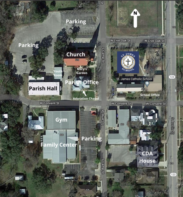 Map of St. James campus
