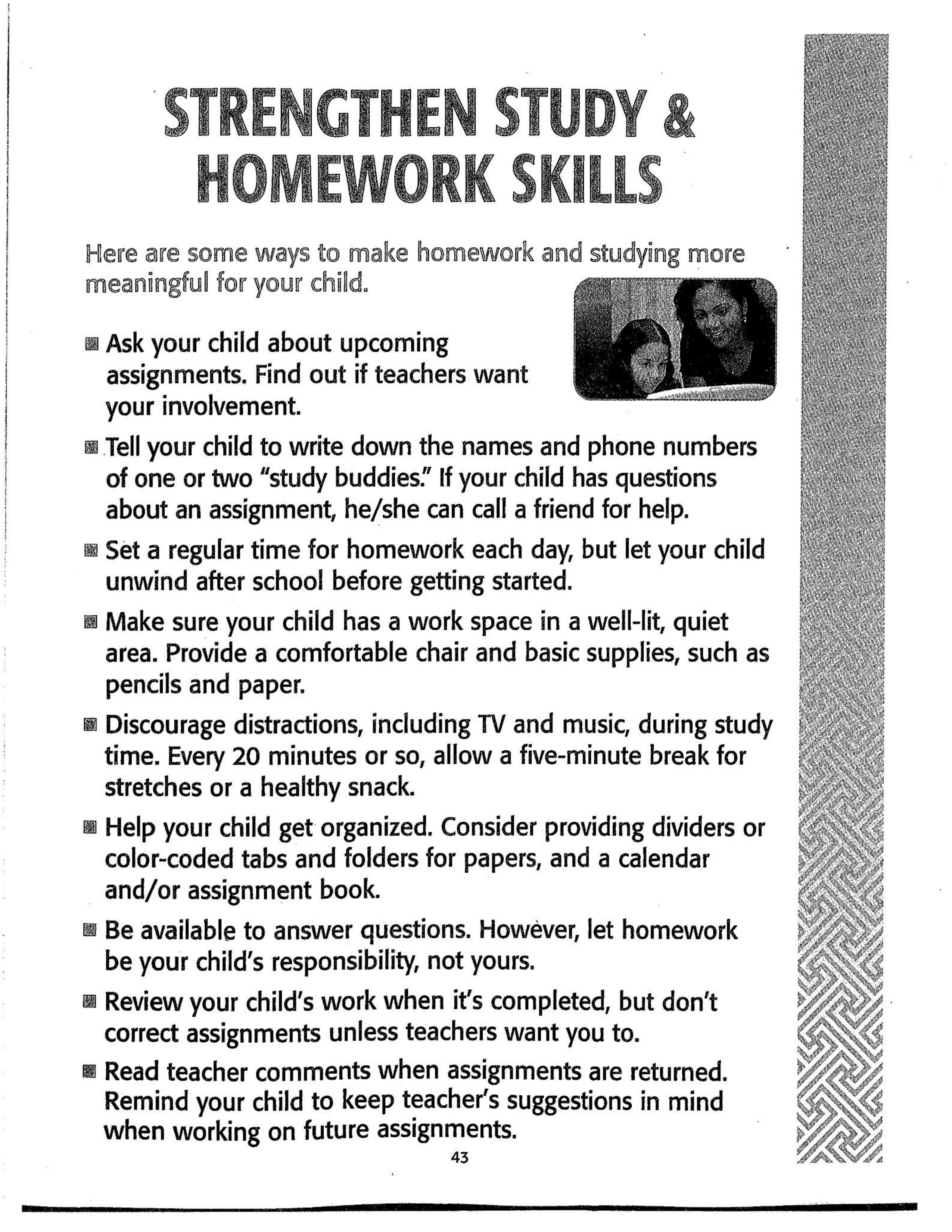 the significance of homework to a students success Assistance,encouragement and reinforcement that facilitate his success why is   elementary years homework helps students develop good study and learning  habits that are important as they  this can make a significant difference in the.