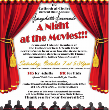 A Night at the Movies - Music Ministry Fundraiser