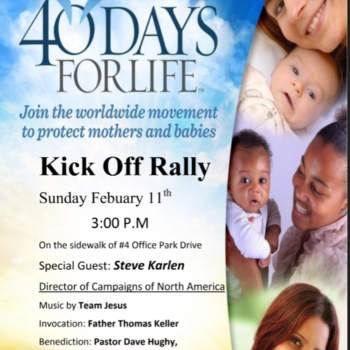40 Days for Life Kickoff